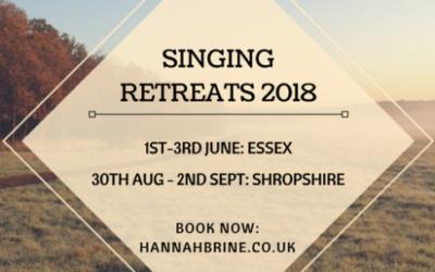 Singing Retreats 2018